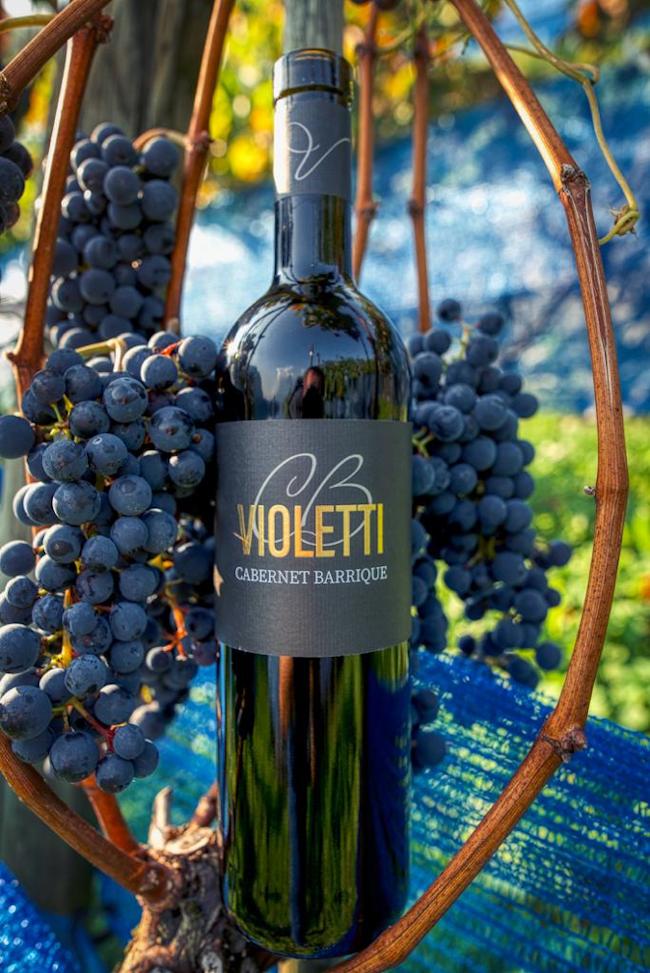 Violetti Weine Flasche Cabernet Barrique